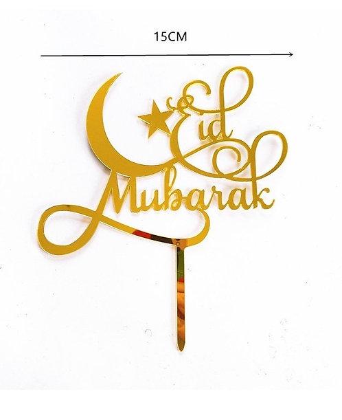 Eid Bayram - Cake Topper - Gold Mond