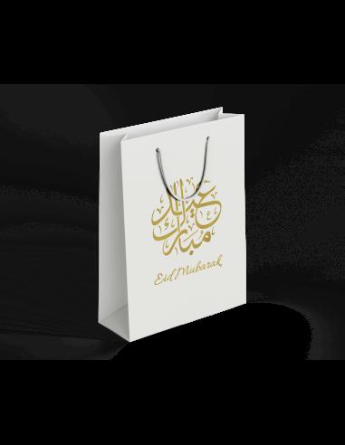Eid Bayram - Geschenk Tüte Beutel Gold weiß