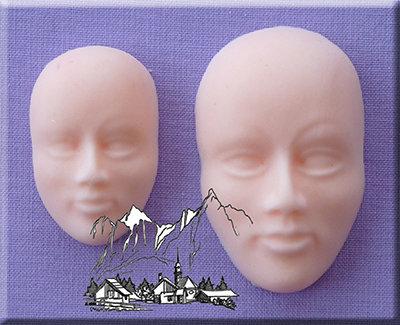 Silikonform - Moulds - Gesichter