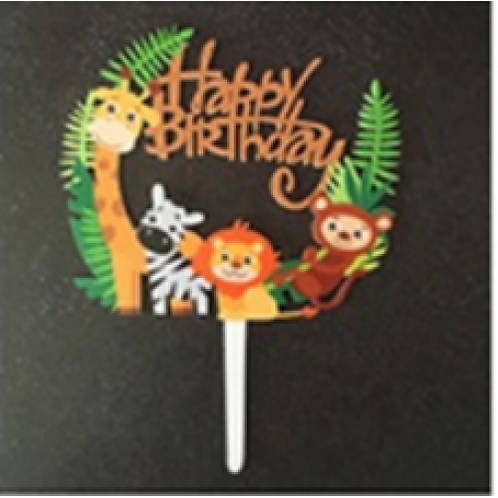 Cake Topper - Happy Birthday Tiere