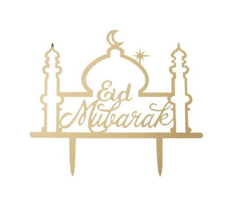 Eid Bayram - Cake Topper - Moschee Gold