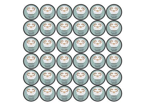Essbare Buttons - Eid Kamel - 48 Stück für Kekse und Cupcakes