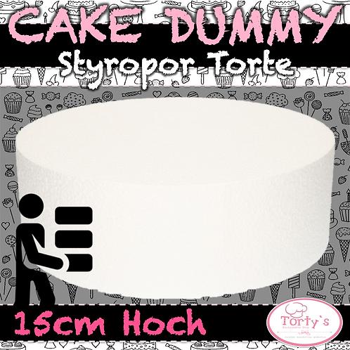 Torten Dummy - Styropor 15cm Hoch - 30cm Durchmesser