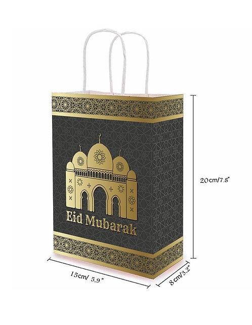 Eid Bayram - Geschenk Tüte Beutel Gold Schwarz
