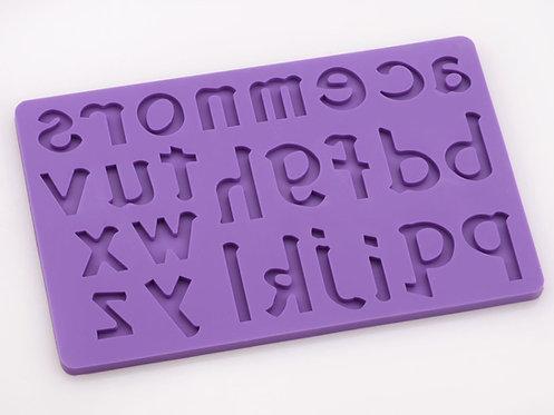 Silikonform - Buchstaben Klein A-Z