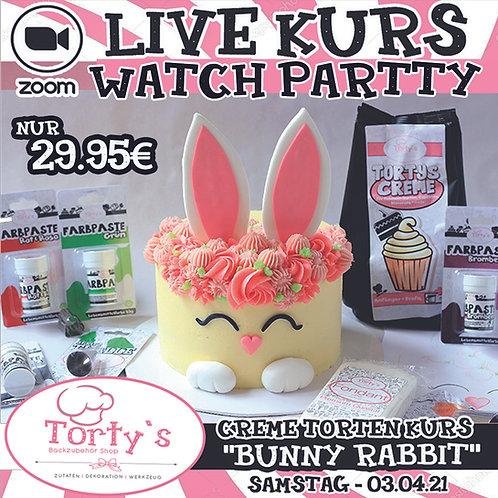 ONLINE LIVE KURS - Creme Torten Kurs - Bunny Rabbit - Zuschauer