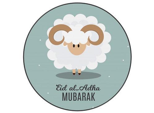 Essbares Bild - Eid Schaf - Rund 20cm
