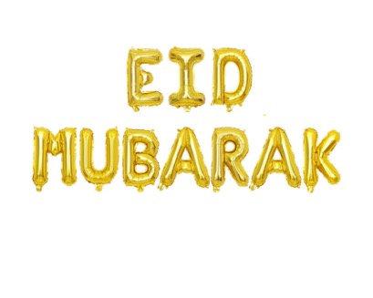 Eid Bayram - Ballons - Eid Mubarak Gold XL