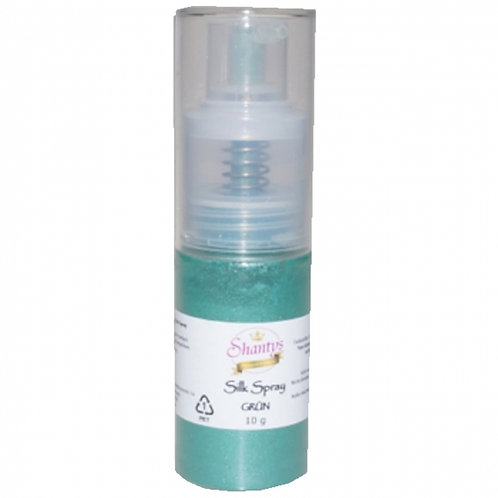 Seidenpulver Spray - GRÜN - 10g