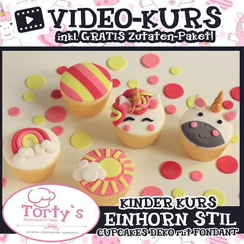 Tortys KinderKurs-Box mit GRATIS Video - All Inclusive - Einhorn Style