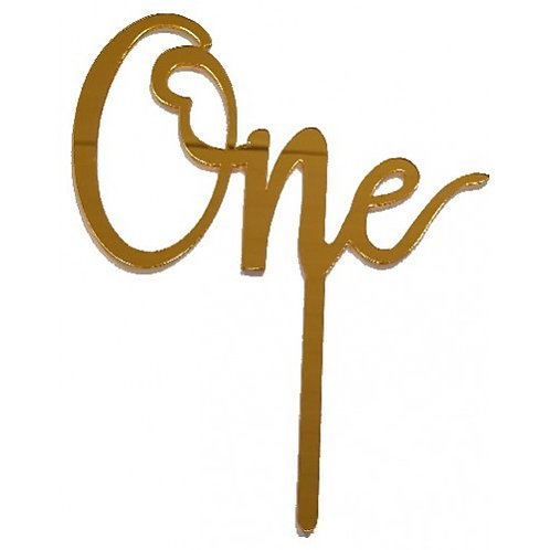 Cake Topper - Gold One