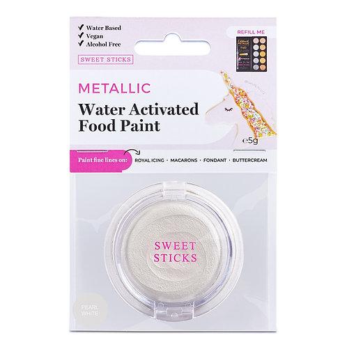 Essbare Farbe - Metallic - Pearl White