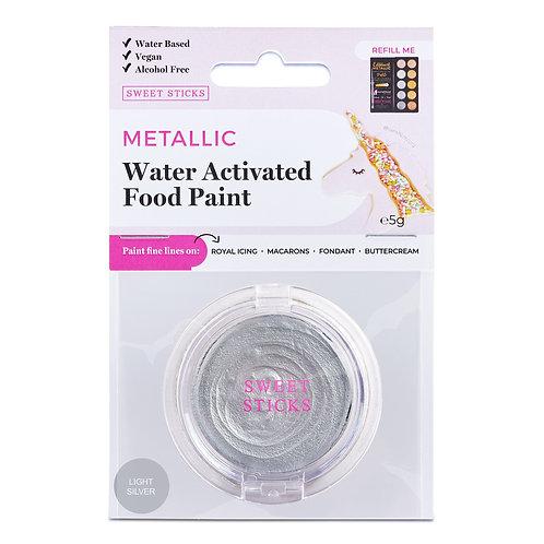 Essbare Farbe - Metallic - Light Silver