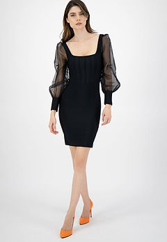 рокля с бухнали ръкави-рокли 2021-дамски дрехи 2021-lubkailievakk.com