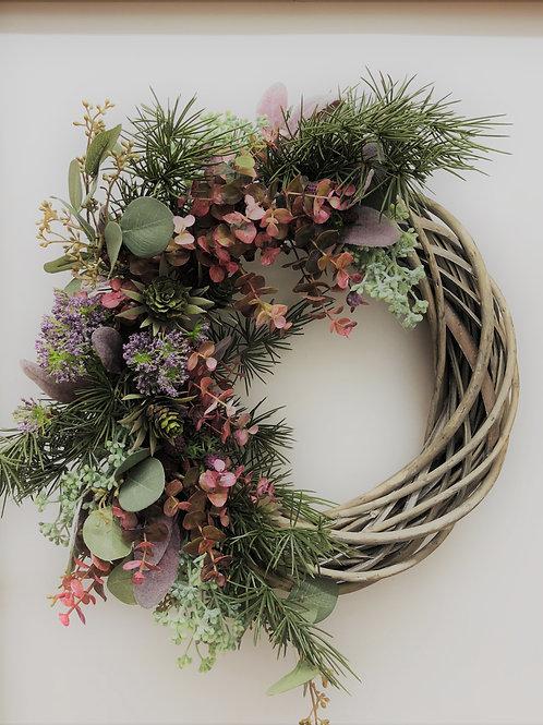 * Pink Scandi Wreath