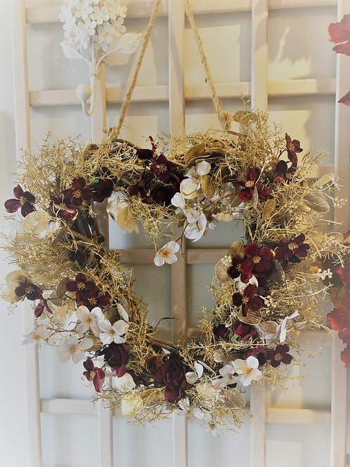 Large Gold & Red Christmas Heart