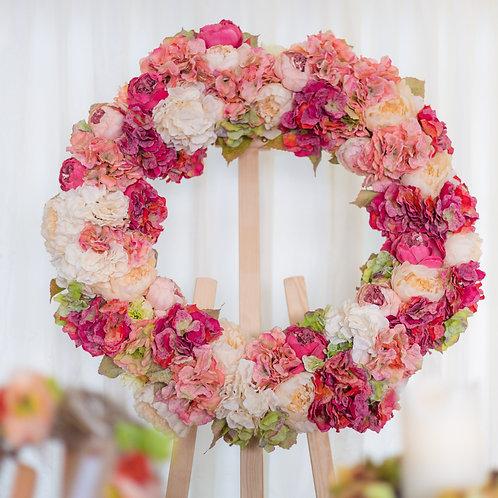 Extra Large Luxury Peony  Hydrangea Wreath