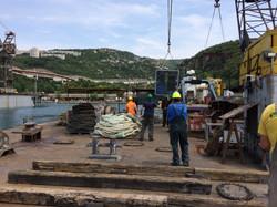 Unloading Geotech equipment