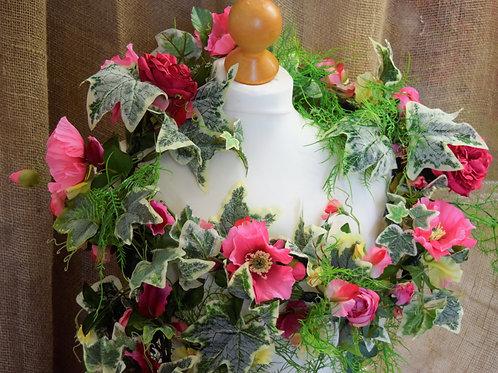 * Sweet Pea & Pink Rose Garland