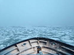 Icy waters in Alaska