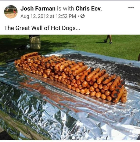 Great Wall of Hot Dogs