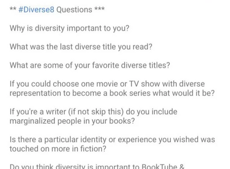 New #BookTube Tag: #Diverse8
