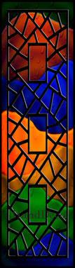 Regenbogen Mosaik Fenster Schwarz 2 / Rainbow Mosaic Window black 2