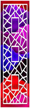 Regenbogen Mosaik Fenster Weiss 1 / Rainbow Mosaic Window white 1