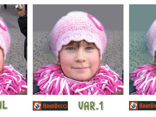 Foto sticken. Kreuzstich oder Halbkreuzstich. Wie kann man Gesicht Farben und Hintergrund anpassen.