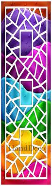 Regenbogen Mosaik Fenster Weiss 0 / Rainbow Mosaic Window white 0
