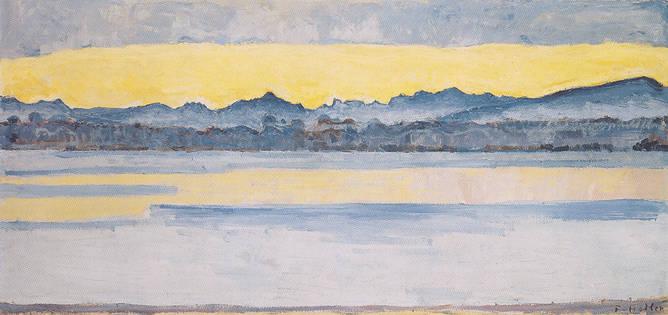 Genfersee mit Mont Blanc in der Morgendämmerung, 1918 / Lake Geneva with Mont Blanc at dawn, 1918
