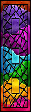Regenbogen Mosaik Fenster Schwarz 0 / Rainbow Mosaic Window black 0