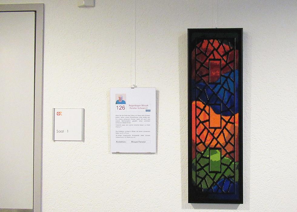 Regenbogen Mosaik Fenster schwarz 2