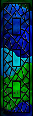 Regenbogen Mosaik Fenster Schwarz 3 / Rainbow Mosaic Window black 3