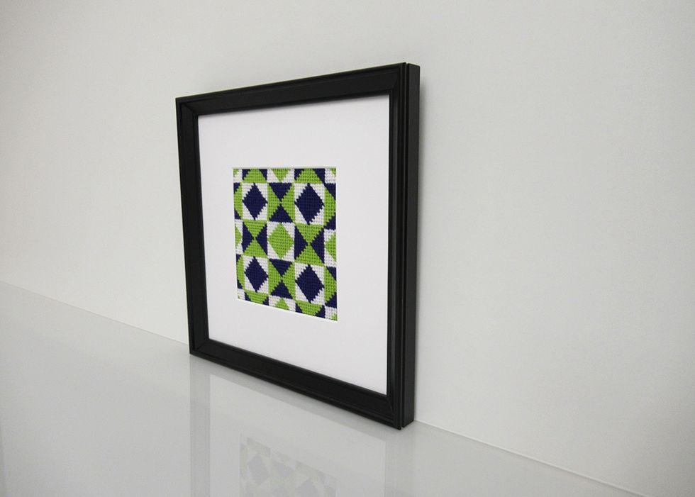 Kaleidoskop Indigoblau-Chartreuse