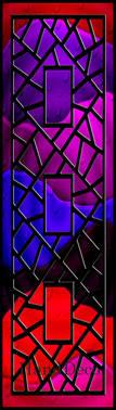 Regenbogen Mosaik Fenster Schwarz 1 / Rainbow Mosaic Window black 1