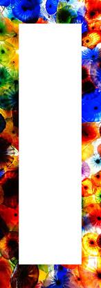 Spiegelrahmen Blumengarten