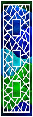 Regenbogen Mosaik Fenster Weiss 3 / Rainbow Mosaic Window white 3