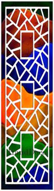 Regenbogen Mosaik Fenster Weiss 2 / Rainbow Mosaic Window white 2