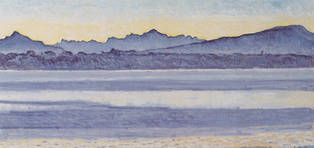 Genfersee mit Mont Blanc bei Morgenlicht, 1918 / Lake Geneva with Mont Blanc in the morning light, 1918
