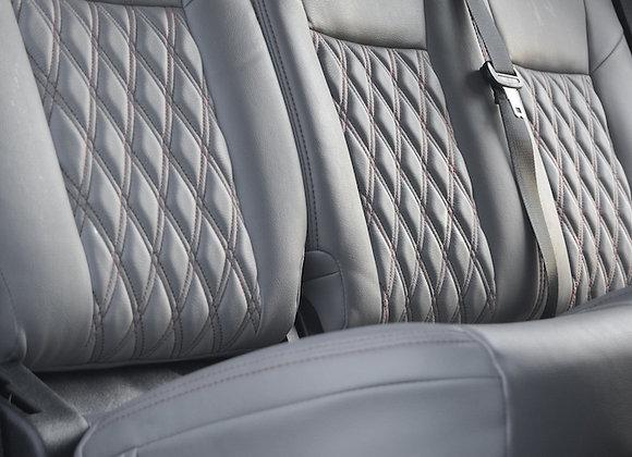 Custom leather seat upholstery