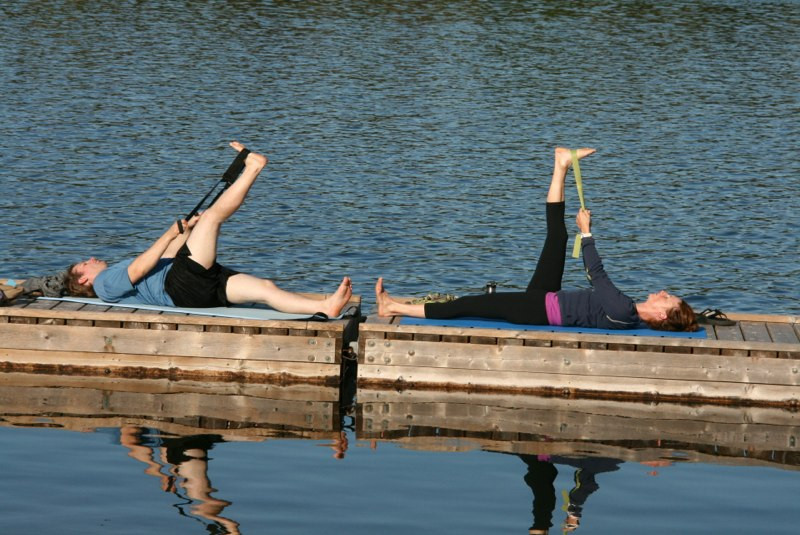 Yoga on the docks