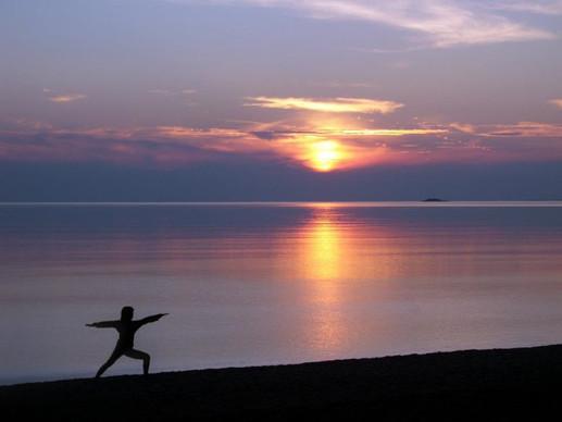 Yoga by Lake Superior