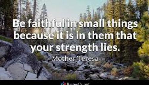 Faith in the Small