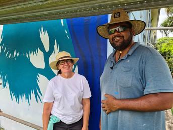 Artists Katrina Elliott & Jarrod Beezley