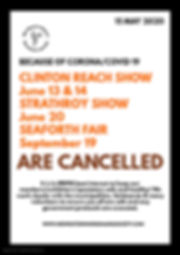 Copy of corona information closed poster
