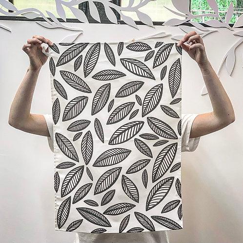 100 % Cotton Tea Towels- Monotone Leaves