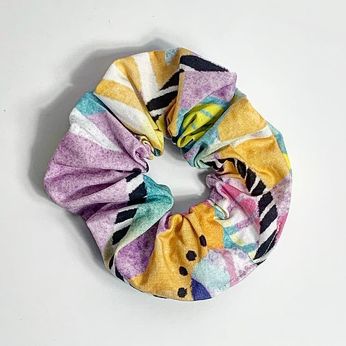100 % Cotton Scrunchie- Pastel Disco Design