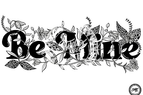 Be Mine Colouring Page