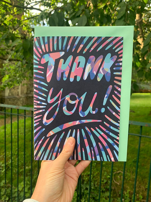 Bright Pattern Thank You Card